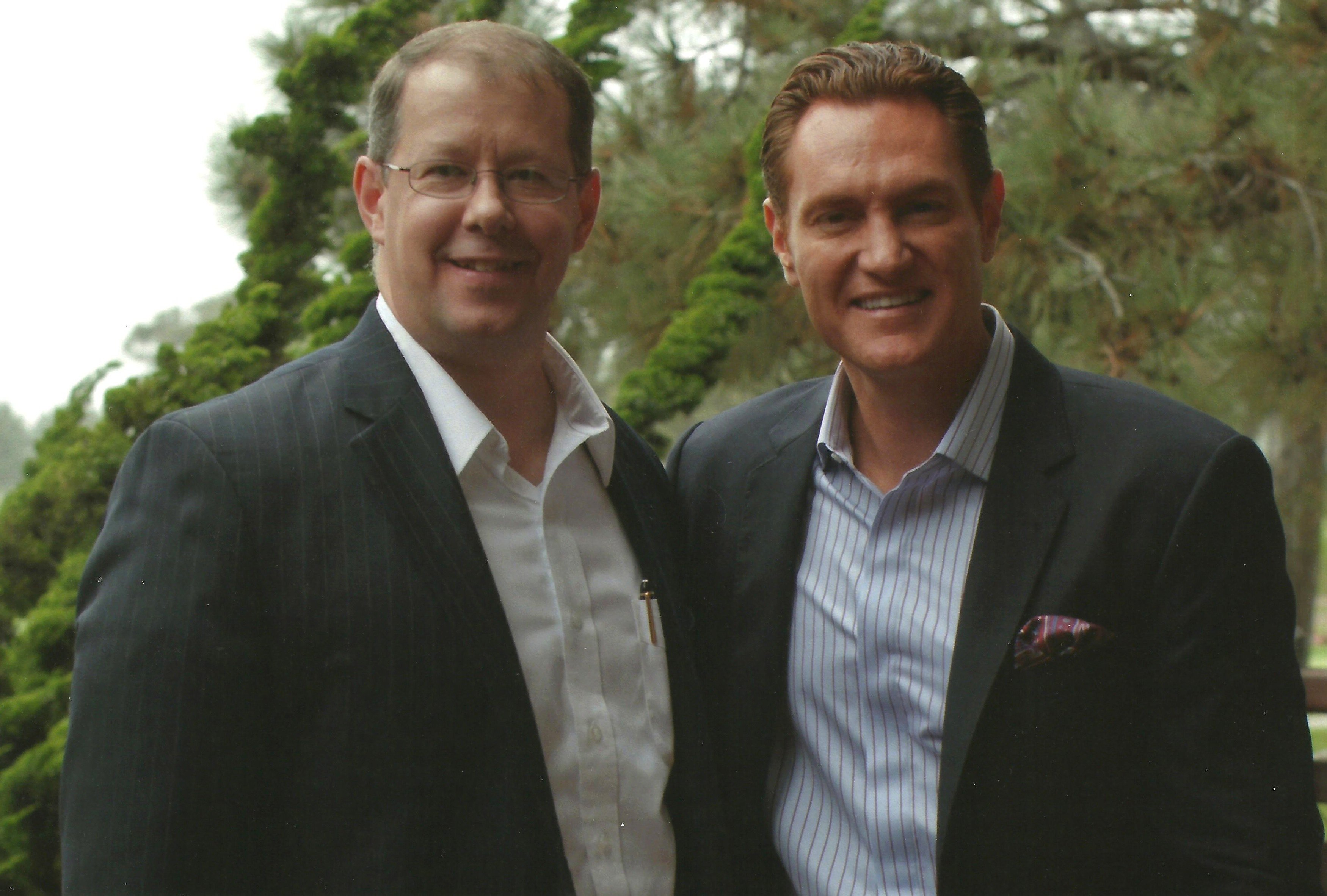 Stephen Woessner with Darren Hardy, August 2012