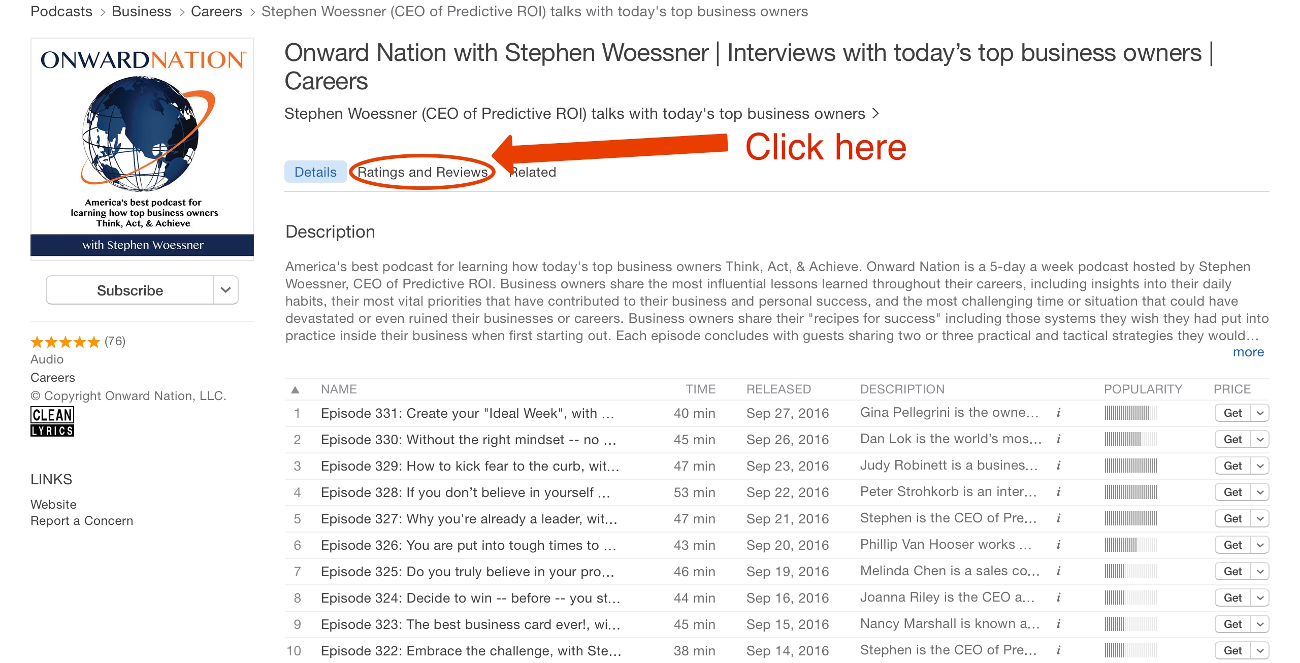 Onward nation with stephen woessner interviews with todays top onward nation with stephen woessner interviews with todays top business owners careers fandeluxe Images