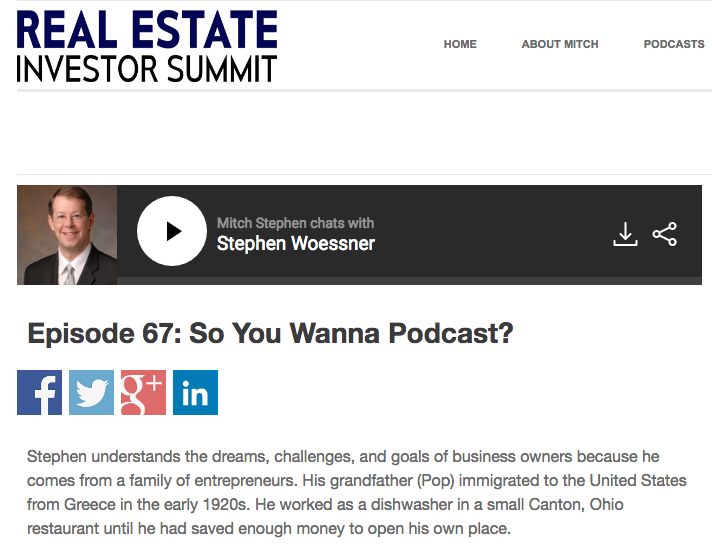 RE Investor Summit: How to Monetize Your Podcast