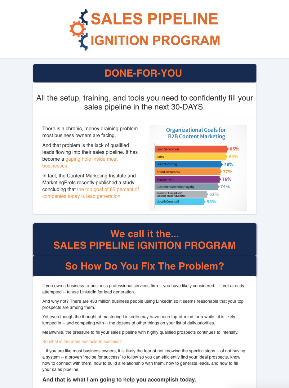 Passive Income Models: Sales Pipeline Ignition Program